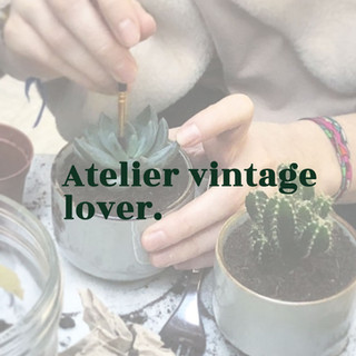 Atelier DIY vintage lover