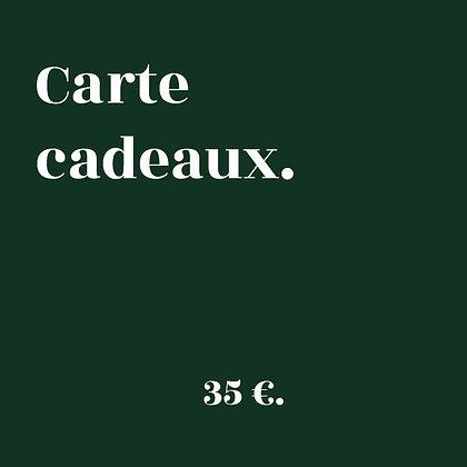 CARTE CADEAUX 35€.