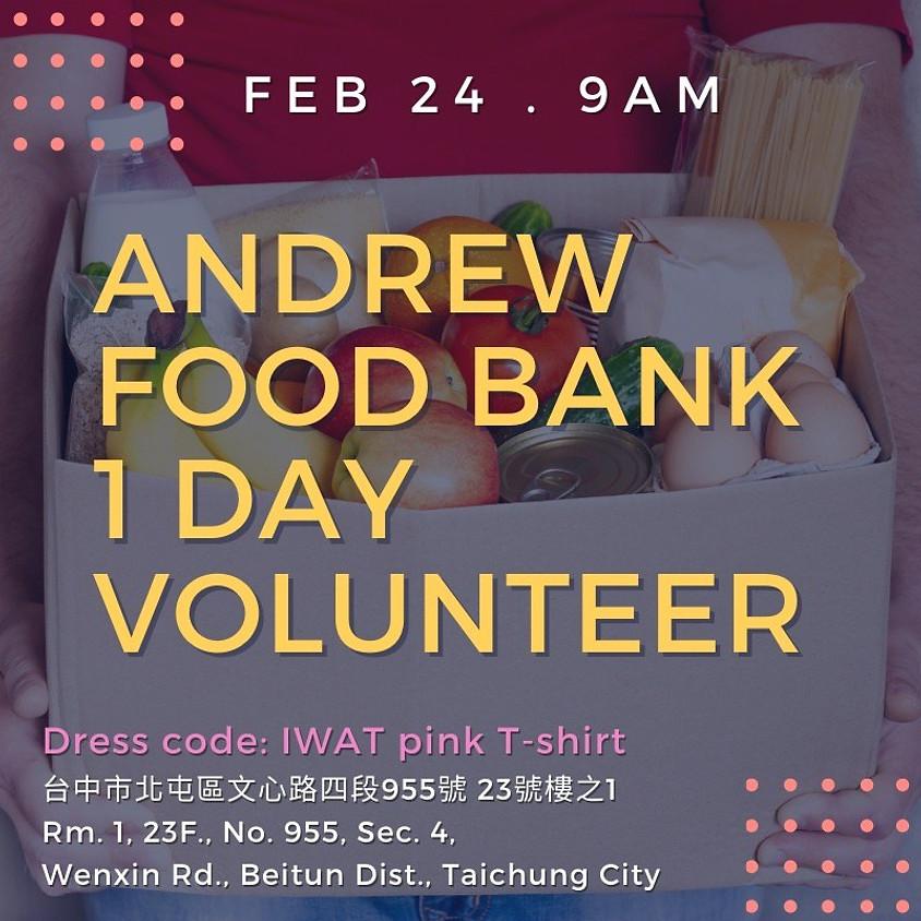 Andrew Food Bank 1 Day Volunteer