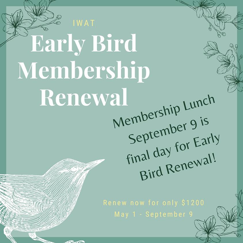 Early Bird Membership Renewal