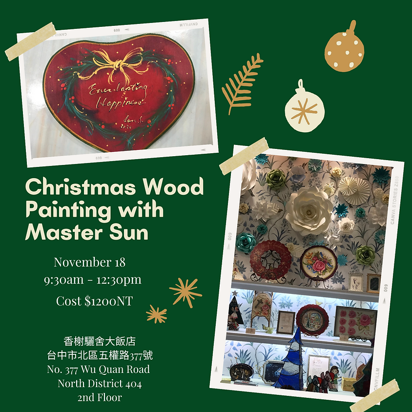 Christmas Wood Painting with Master Sun