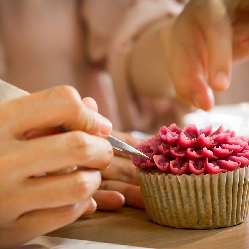 *Cooking class* flower cake (bean paste piping)