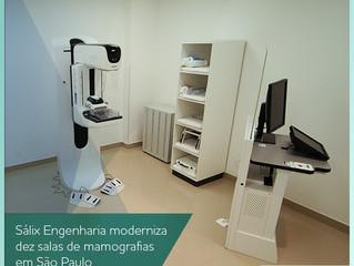 Sálix Engenharia moderniza dez salas de mamografias em São Paulo