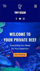 Online Store website templates – Fish Supply Store