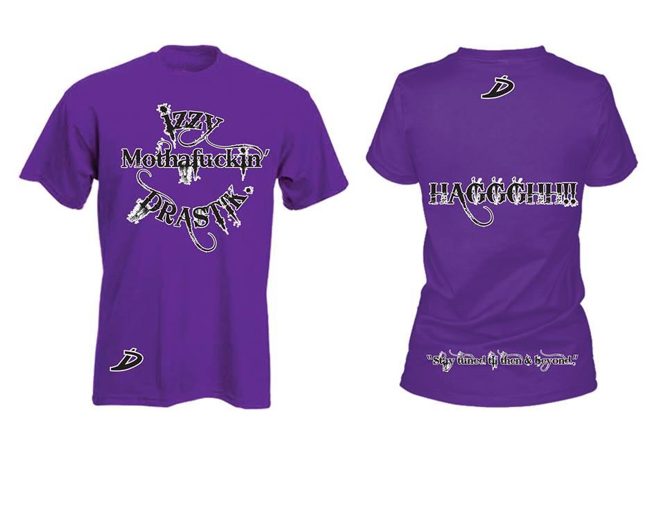 "Purple ""izzy Mothafuckin' DRASTIK"" Design T-Shirt"