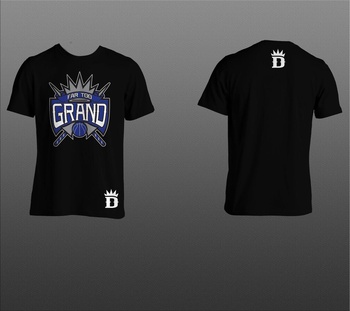 "Black ""Far Too Grand"" Design T-Shirt"