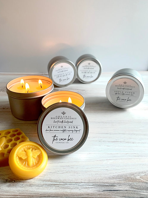 Organic Beeswax & Coconut Oil Candles