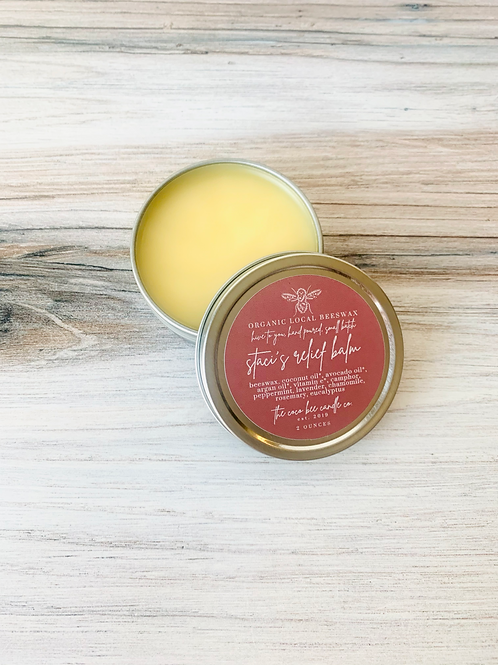 Staci's Sore Muscle Relief   Salve