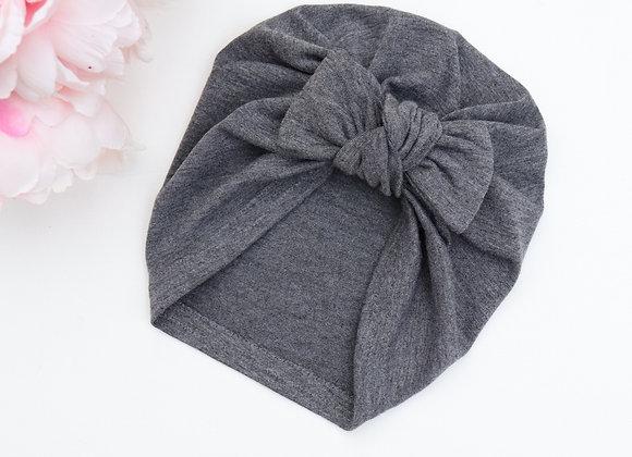 Dark Grey Turban (Removable Bow)