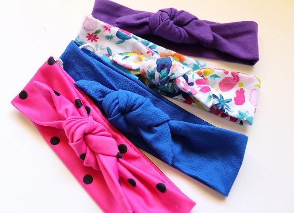 Set of 4 Newborn Head Tie sets