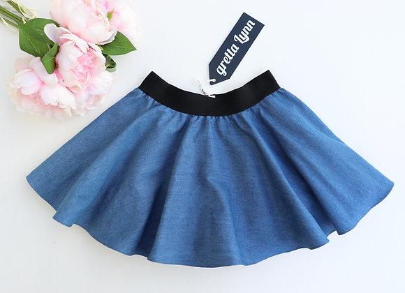 Blue Rock N Roll Skirt