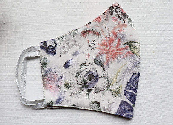 Adult Pale Flowers Reusable Mask/Face Covering