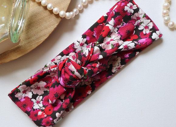 Pink/Red Flowers Head Ties