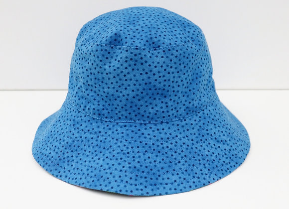 1-2 Years Blue Spots Hat (Reversible to Flamingos)