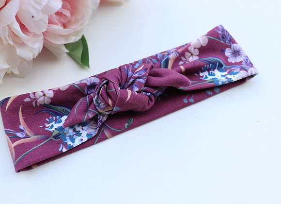 Pretty Flowers Purple Head Ties