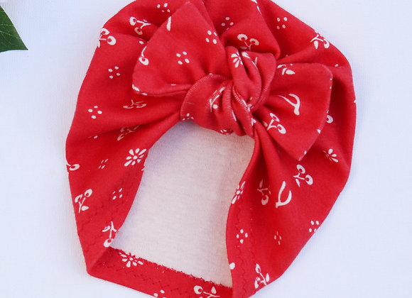 Red Cherry & Wishbone (Organic Cotton) Turbans