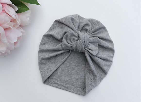 Light Grey Turban ( Removable Bow)