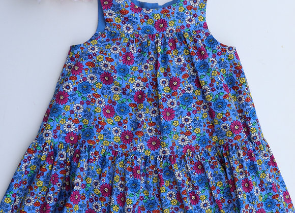 4 Yrs Multi Colour Flowers Flared Dress