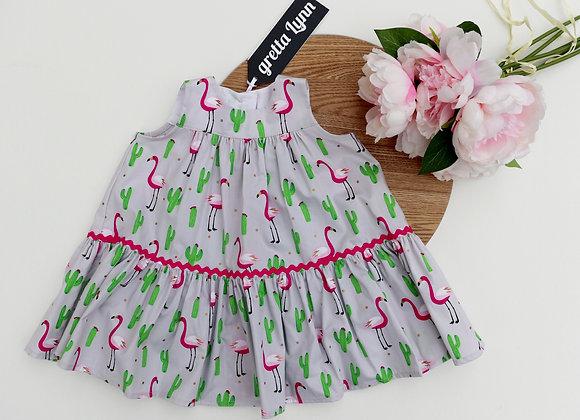 12-18 Months Flamingo Flared Dress