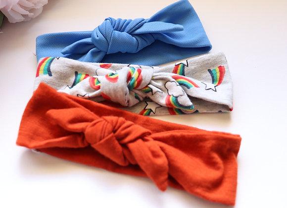 Rainbow Newborn Head Tie sets