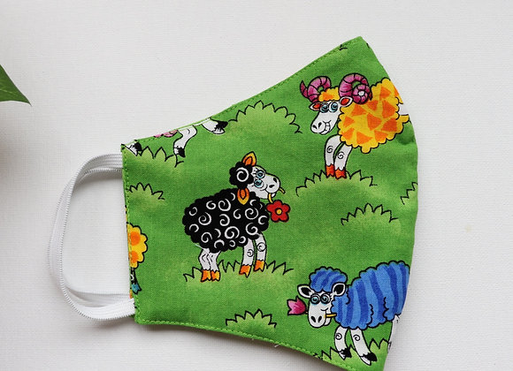 Adult Sheep Print Reusable Mask/Face Covering