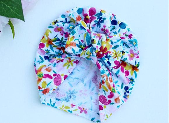 Bright Flower (Organic Cotton) Turbans