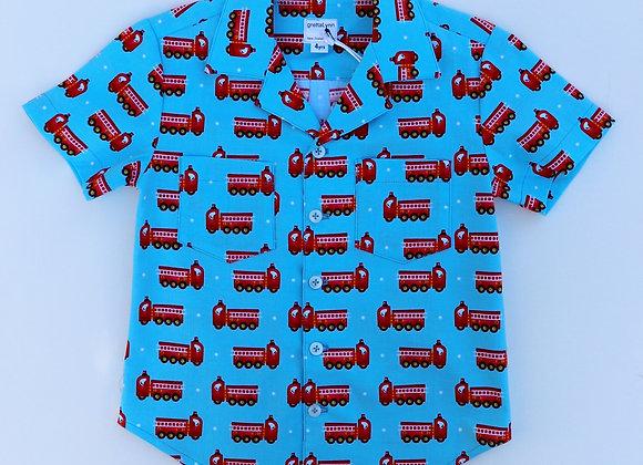4 Yrs Fire Truck Shirt
