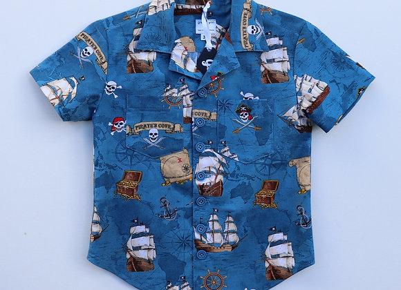5Yrs Blue Pirate Shirt