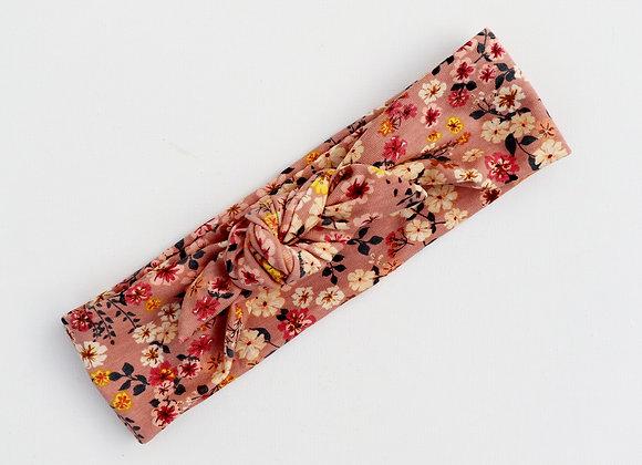 Vintage Blush Flowers Head Ties