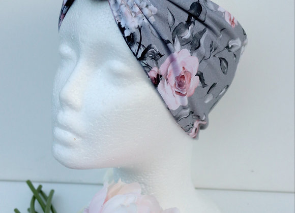 Pink Roses Bow/knotted Wide Head Ties