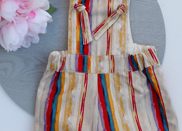 3-6 Months Colourful Stripes Overalls
