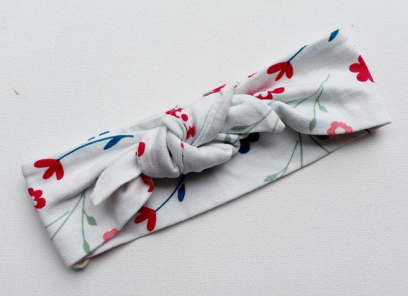 Blue/Red Flower Head Ties