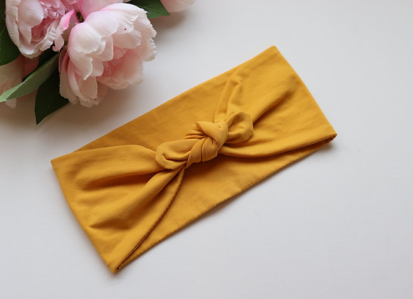Yellow Mustard Bow/knotted Wide Head Ties