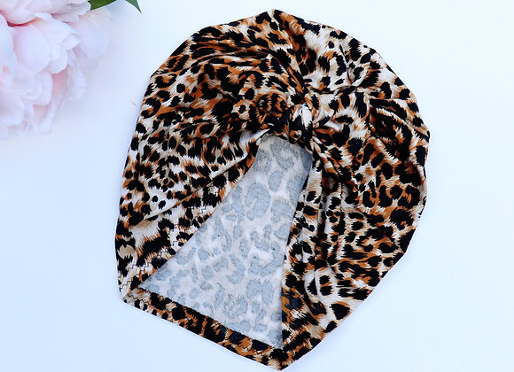 Leopard Turban ( Removable bow)