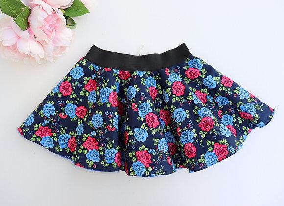 Blue Roses Rock N Roll Skirt