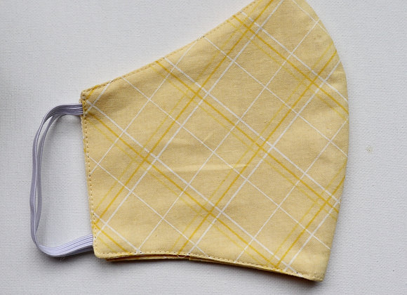 Adult Yellow Checker Reusable Mask/Face Covering