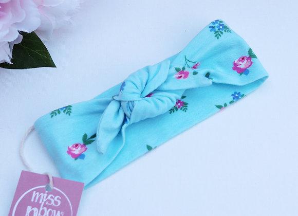 Vintage Blue Flowers Head Ties