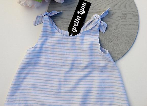 Blue/Grey Stripes Swing Top