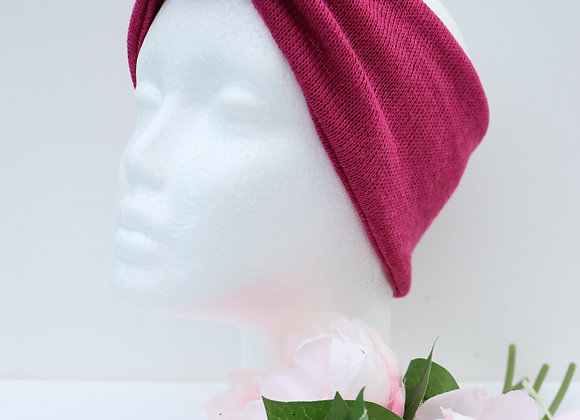 Pink Knit Bow/knotted Wide Head Ties