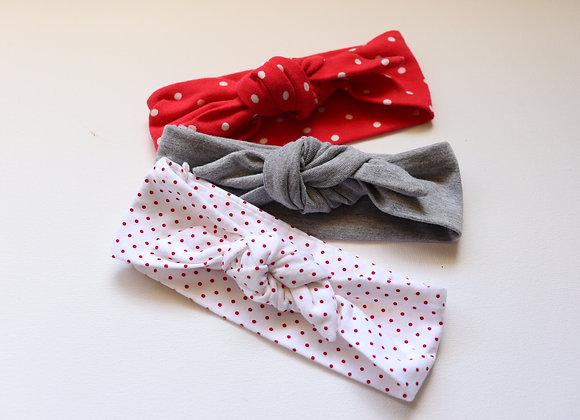 Grey Newborn Head Tie sets