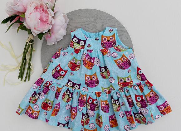 3-6 Owl Flared Dress