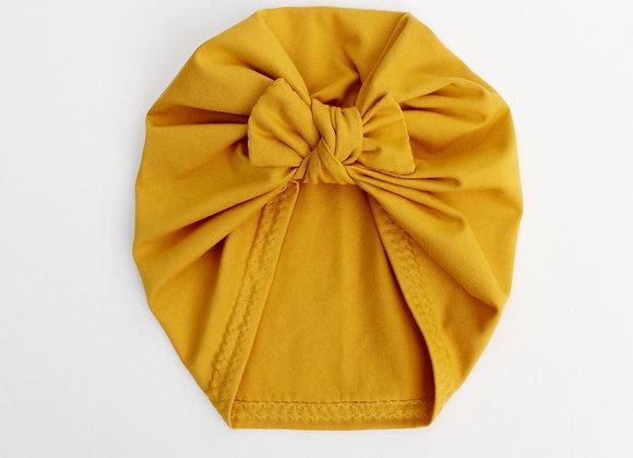 Light Mustard Turban (Bow Removable)