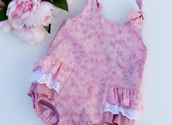 Pink Flowers Romper