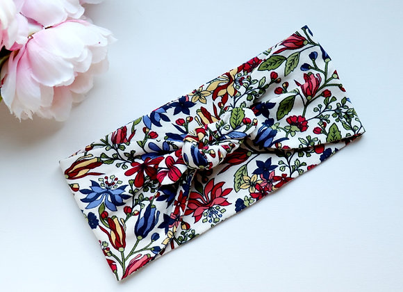 Retro Flowers Bow/knotted Wide Head Ties