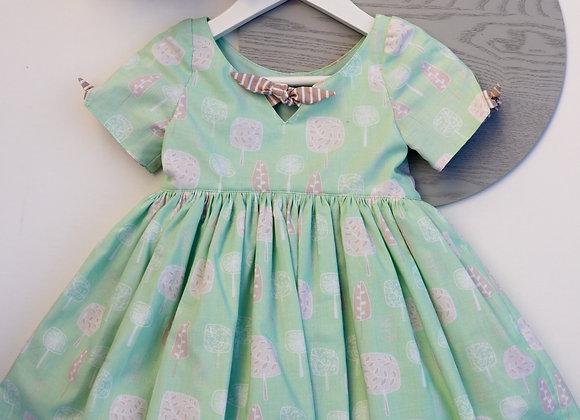 3 Yrs Green trees Retro Dress with a petticoat