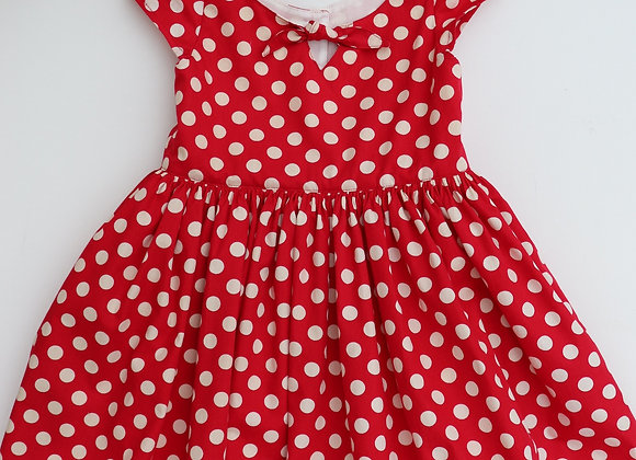 5Yrs Red Polka Dot Rock and Roll Dress