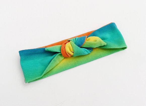 Multi Bright Blue, Green, Orange and Yellow Head Ties