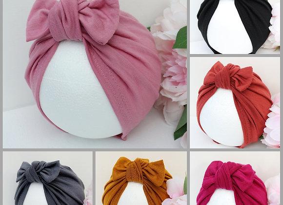 100% Merino Wool Turbans (Removable bow)