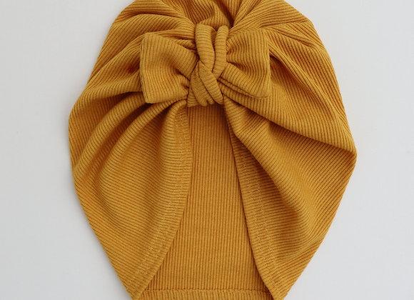 Mustard Yellow Rib Turban