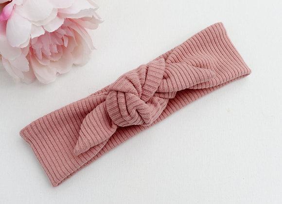 Blush Rib Head Ties